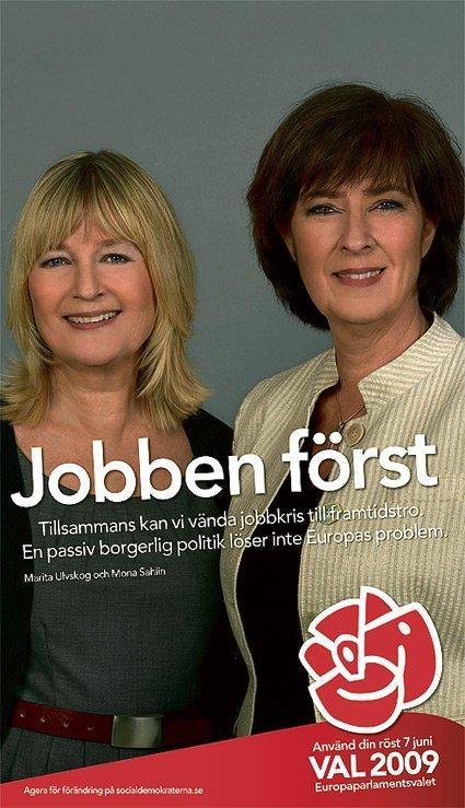Socialdemokraterna affisch 2009