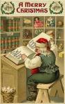 A Merry Christmas – vintage Christmascard