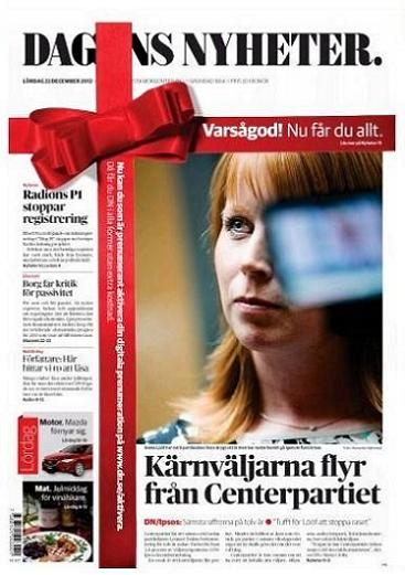Dagens Nyheter lördagens den 22 december 2012
