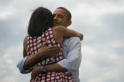 Bild-President Obama och First Lady Michelle Obama