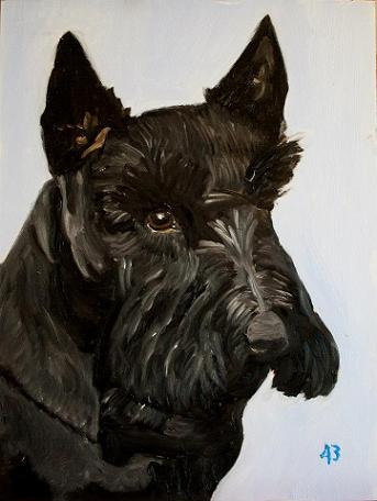 Barney Bush (2000-2013) målad av George W. Bush