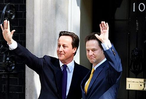 Picture - BBC -- David Cameon & Nick Clegg