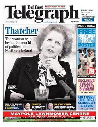 Belfast Telegraph den 9 april 2013