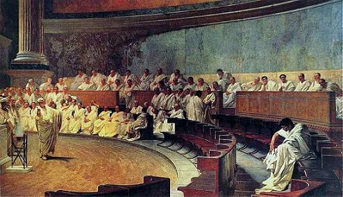 Cicero fördömmer Catilina