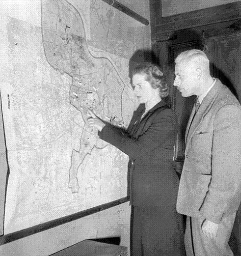 Margaret Roberts plans her election campaign 1950