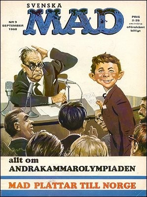 Svenska Mad nr 9 september 1968