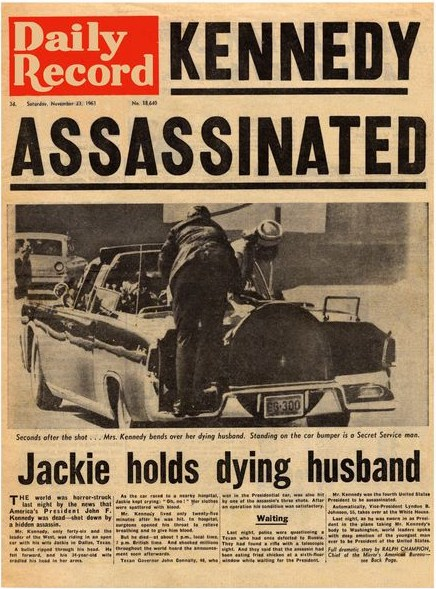 Daily Record-front page-23 november 1963