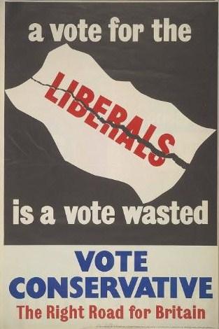 Valaffisch 1950 Conservative Party Storbritannien