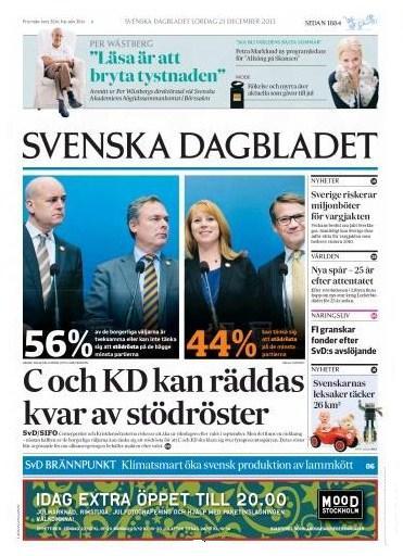 Svenska Dagbladet 21 dec 2013