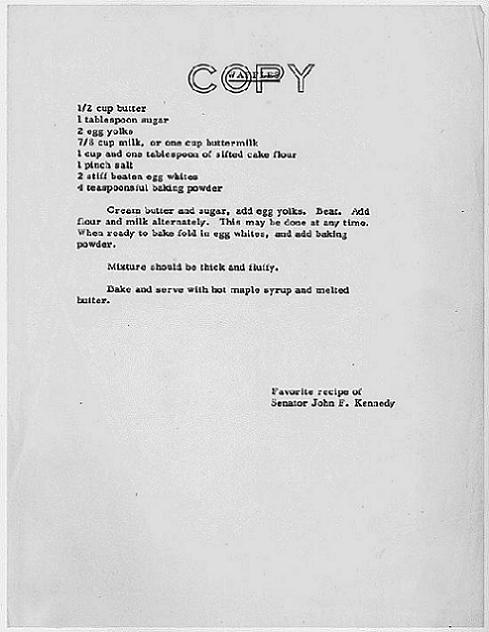 John F. Kennedy's favorite waffles