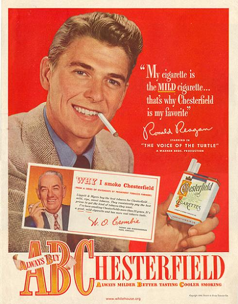 Ad Ronald Reagan Chesterfield