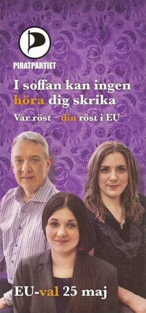 Piratpartiet broschyr EU-valet 2014.