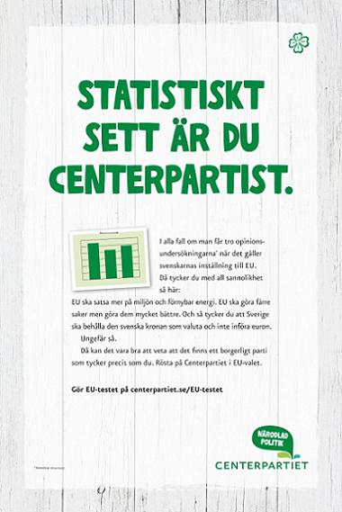 Centerpartiet annons EU-valet 2014