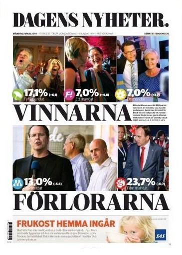 Dagens Nyheter den 26 maj 2014