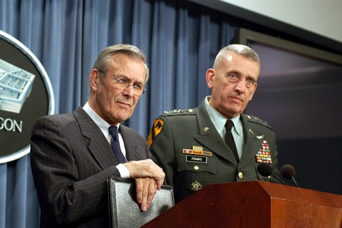 Donald Rumsfeld & Tommy Frank --Picture Helene C. Stikkel