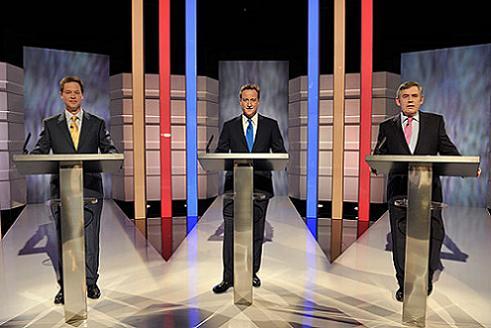 Första tv-debatten i UK 2010