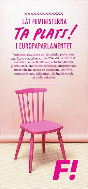 Feministiskt initiativ broschyr EU-val 2014 (framsida)