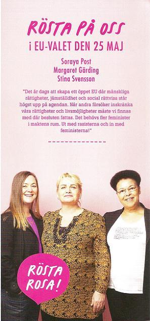 Feministiskt initiativ broschyr EU-valet 2014 (baksida)