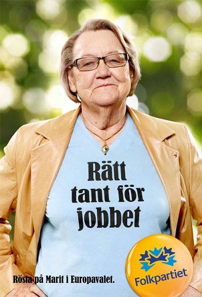 Folkpartiet- EU-valet 2014- Rätt tant till jobbet