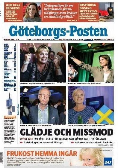 Göterborgs-Posten 26 maj 2014