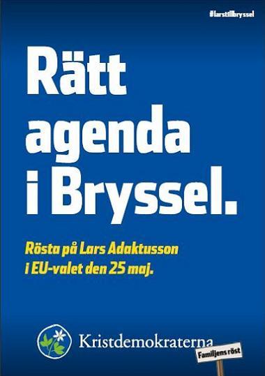 Kristdemokraterna valaffisch EU-valet 2014