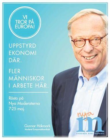 Moderaterna valaffisch EU-valet 2014
