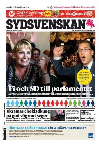 Sydsvenskan 26 maj 2014