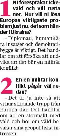 Sydsvenskan 4  maj 2014..