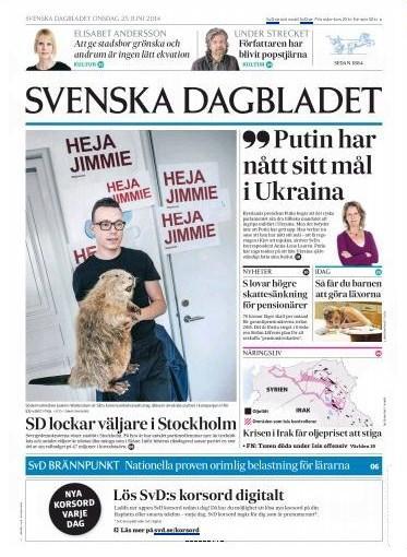 Svenska Dagbladet 25 juni 2014