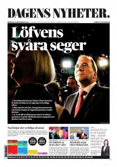 Dagens Nyheter 15 september 2014