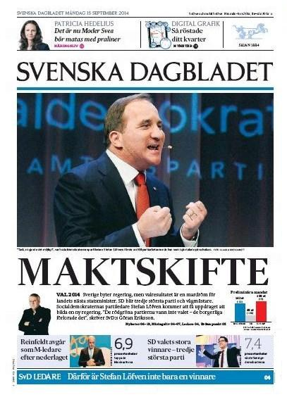 Svenska Dagbladet 15 september 2014