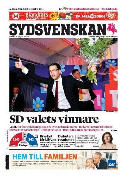 Sydsvenskan 15 september 2014