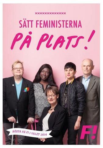 Valaffisch Feministiskt initiativ 2014