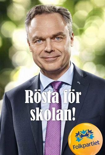 Valaffisch Folkpartiet 2014