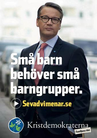 Valaffisch Kristdemokraterna 2014.