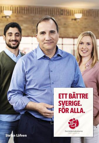 Valaffisch Socialdemokraterna 2014