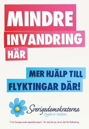 Valaffisch Sverigedemokraterna 2014