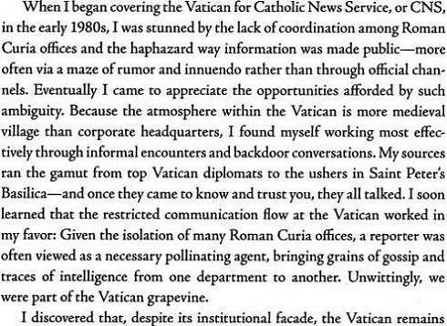 The Vatican Diaries - John Thavis I