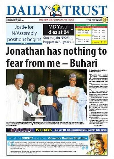 Daily Trust 2 april 2015