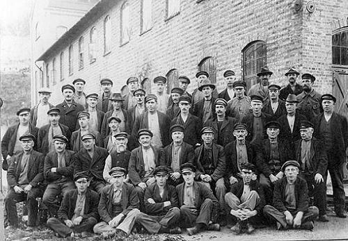 Arbetare på Bruket - 75-års jubileum--Foto av Oscar Färdig
