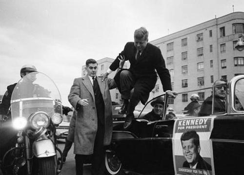 John F. Kennedy campaigning 1960