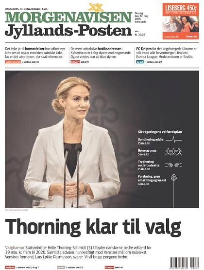 Morgenavisen Jyllands-Posten 27 May 2015