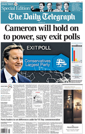 The Daily Telegraph May 8 2015