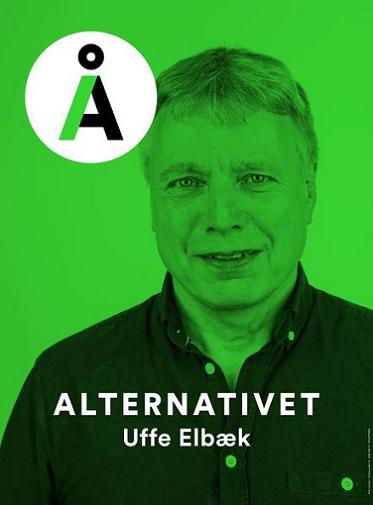 Alternativet - Uffe Elbræk - Valaffisch 2015