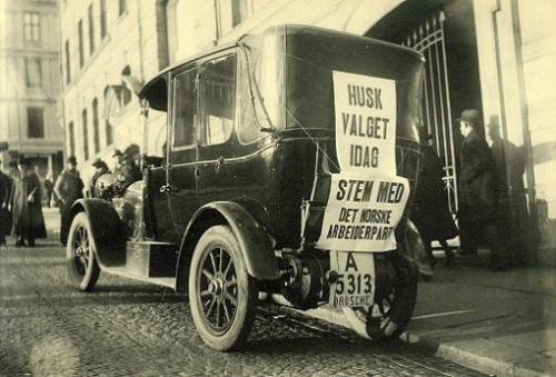 Fra valgkampen i Oslo ved stortingsvalget i 1921