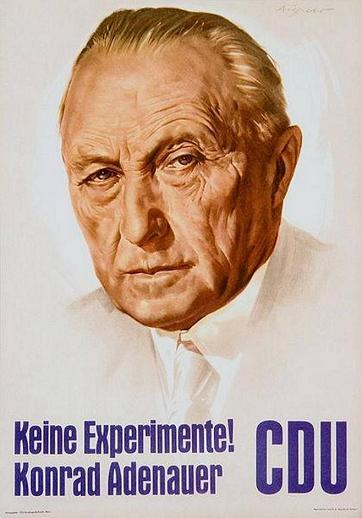 Keine-Experimente Konrad Adenauer CDU - Valaffisch Tyskland