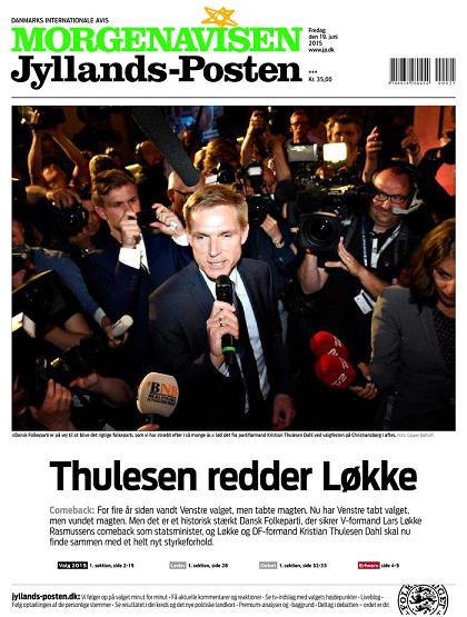 Morgenavsen Jyllands-Posten 19 June 2015