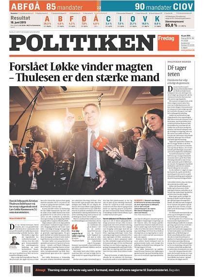 Politiken 19 June 2015