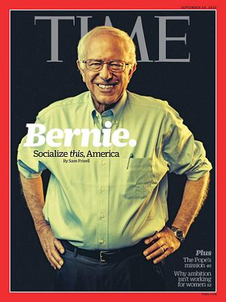 Magazine Cover Time September 28 2015 - Bernie Sanders
