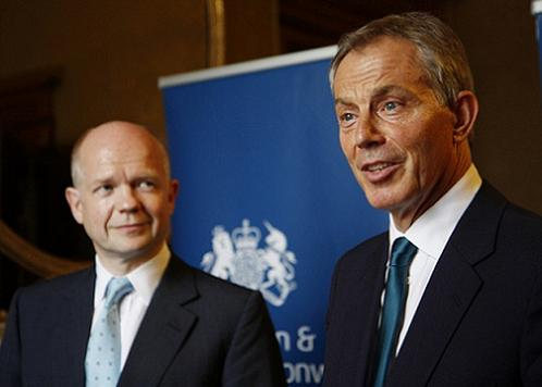 William Hague and Tony Blair
